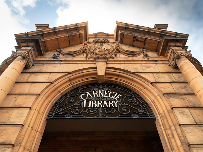 Carnegie Library entrance